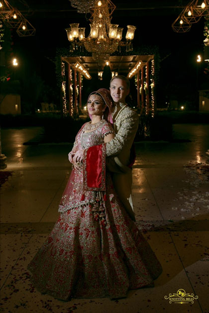 Actress Aashka Goradia and Brent Goble during their wedding in Mumbai.