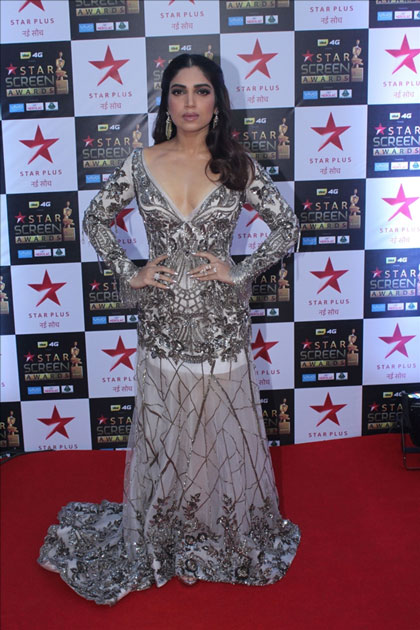 Actress Bhumi Pednekar at the red carpet of