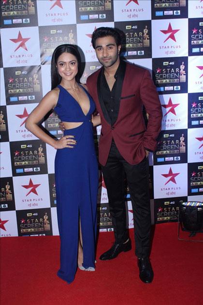 Actors Anya Singh and Aadar Jain at the red carpet of