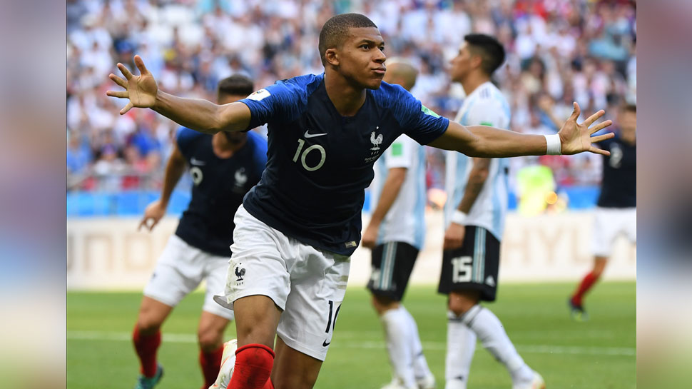 kylian Mbappe is happy