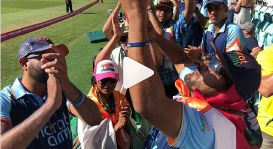 VIDEO : भारतीय चाहत्यांकडून पंतची सुरेल प्रशंसा