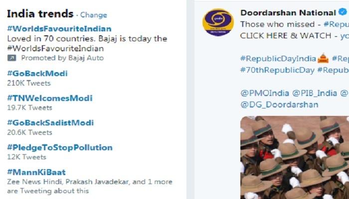 पंतप्रधान मोदींच्या तामिळनाडू दौऱ्याआधीच #GoBackModi ट्वीटरवर ट्रेंड