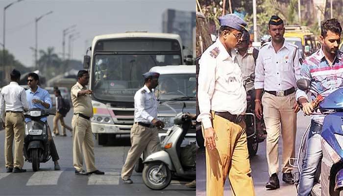 नाकाबंदीस असलेल्या वाहतूक पोलिसास दुचाकीस्वाराने नेलं फरफटत