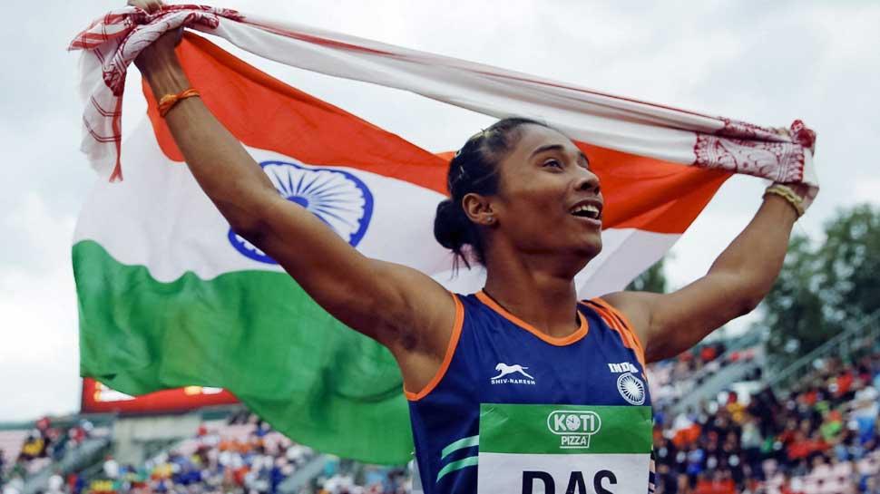 भारताची 'सुवर्णकन्या' हिमा दासची १५ दिवसात ४ सुवर्ण पदकांची कमाई
