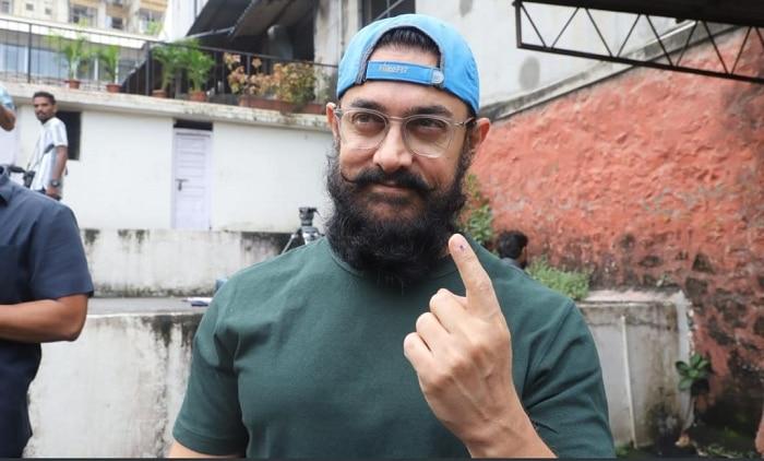 अभिनेता आमिर खानने बजावला मतदानाचा हक्क