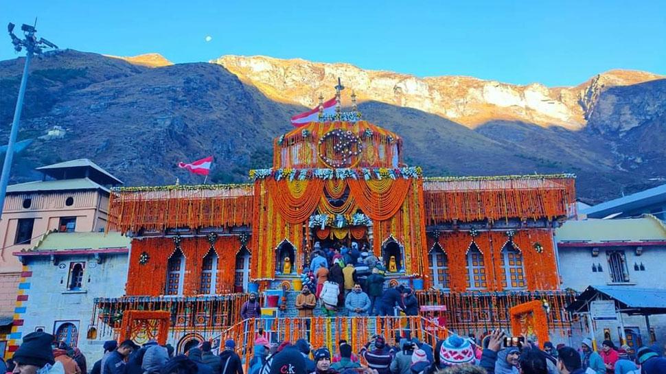 बद्रीनाथ मंदिराची कवाडं पुढील ६ महिन्यांसाठी बंद