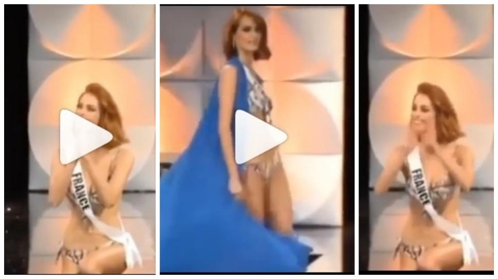 Miss Universe 2109 : बिकीनी राऊंडमध्ये सौंदर्यवतीचा तोल गेला अन्....