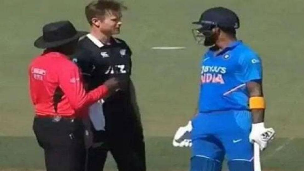 IND vs NZ: राहुल-नीशम मैदानातच एकमेकांना भिडले