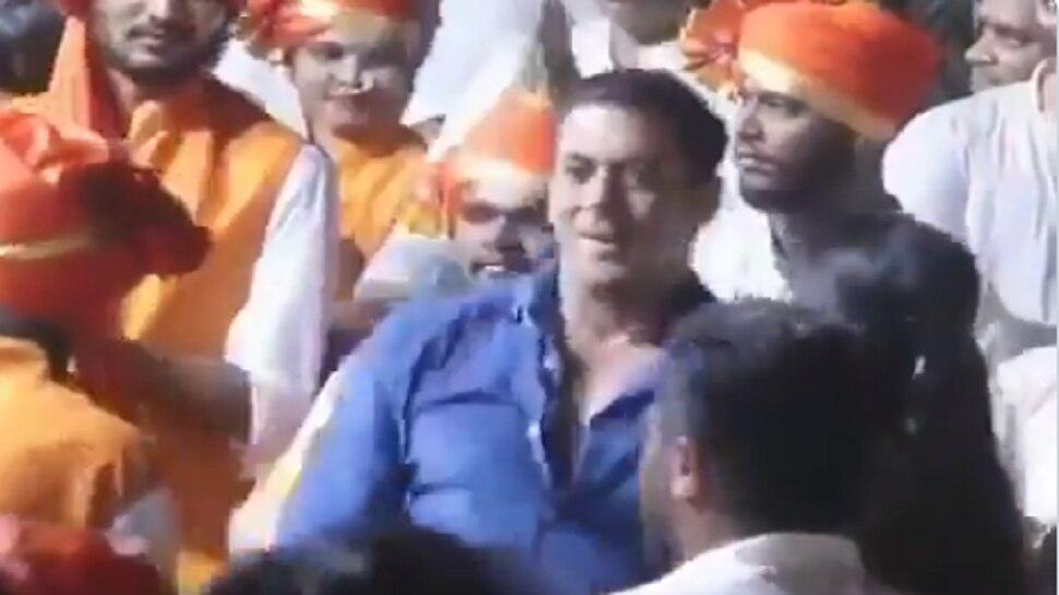 Viral Video : ढोल- ताशांच्या गजरावर जेव्हा बाप्पासाठी सलमान थिरकतो....