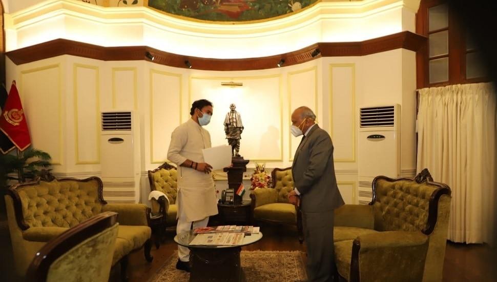 भारत-चीन तणावादरम्यान लडाखचे उपराज्यपाल गृह राज्यमंत्र्यांच्या भेटीला