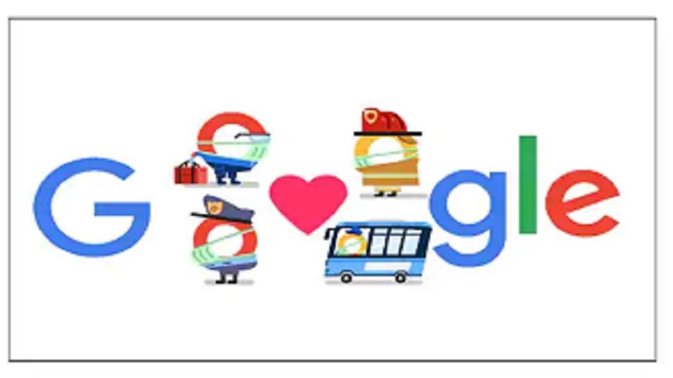 कोरोना योद्धांचे गूगलकडून डूडल माध्यमातून खास आभार