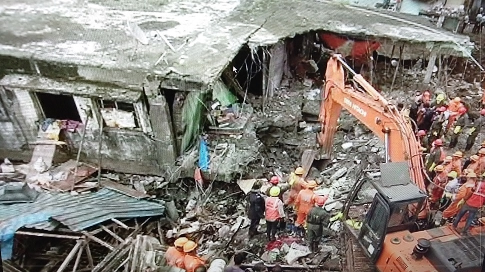 भिवंडी इमारत दुर्घटना : मृतांचा आकडा २४ वर, आणखी काही अडकल्याची भीती