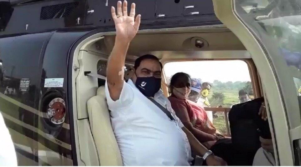 एकनाथ खडसे हेलिकॉप्टरने मुंबईकडे रवाना, उद्या करणार राष्ट्रवादीत प्रवेश