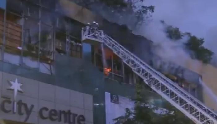 सिटी सेंटर मॉलला भीषण आग; २ अग्निशमन दलाचे कर्मचारी जखमी
