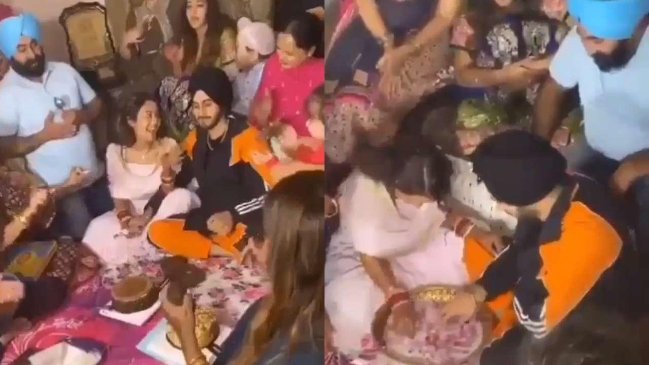 VIDEO : नववधू नेहा कक्करचं सासरी दणक्यात स्वागत