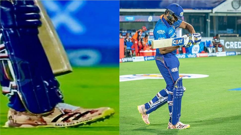 IPL 2021: Rohit Sharma पहिली मॅच हरला असला, तरी त्याच्या शूजवरील मॅसेजने मात्र सगळ्यांची मनं जिंकली...