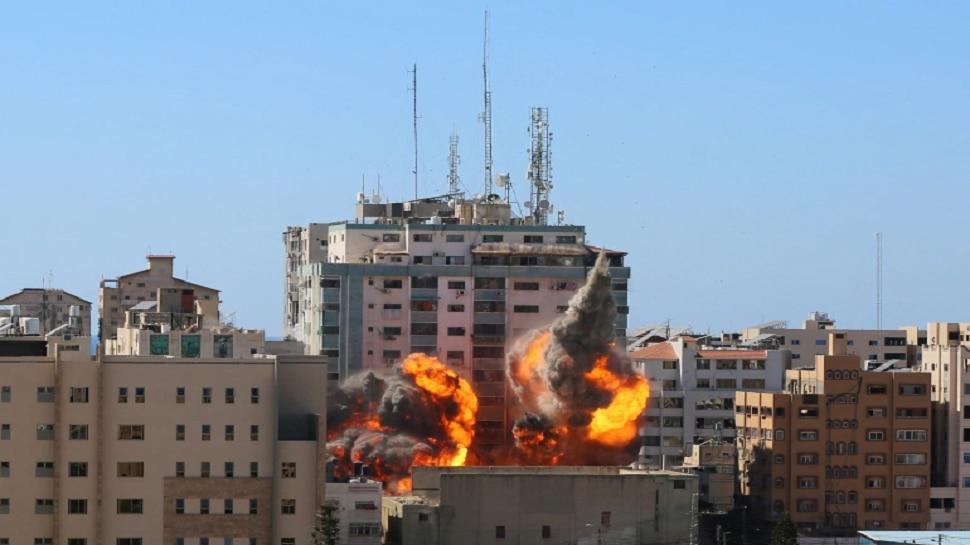 गाझामधील मीडिया कार्यालय असलेल्या इमारतीवर हल्ला, अमेरिकेचा इस्त्रायलला इशारा