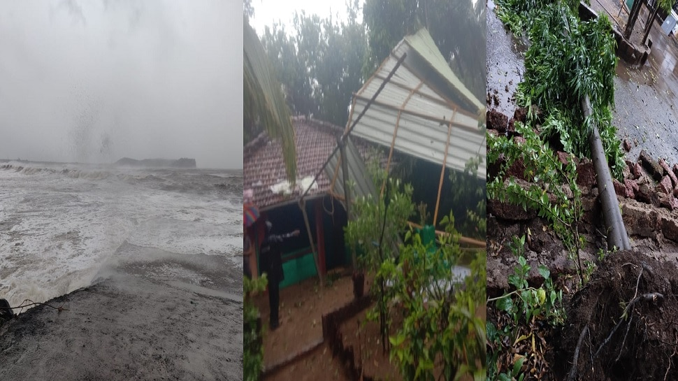 Tauktae  चक्रीवादळाचा तडाखा : मुंबई - ठाणे, नवी मुंबईसह कोकणात पाऊस; अनेक ठिकाणी पडझड