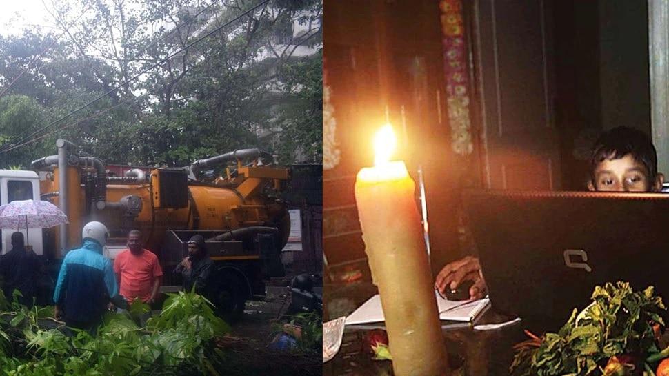 चक्रीवादळानंतर मुंबईत जोरदार पाऊस; या ठिकाणी 20 तास बत्तीगुल, झाड कोसळून महिलेचा मृत्यू