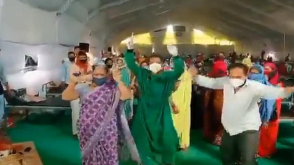 कोरोना रुग्णांचा झिंग-झिंग-झिंगाट डान्स व्हायरल...पाहा उत्साह