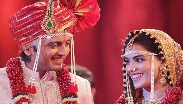 लग्नात रितेशने आठवेळा धरले पाय... Genelia D'Souza कडून मोठा खुलासा
