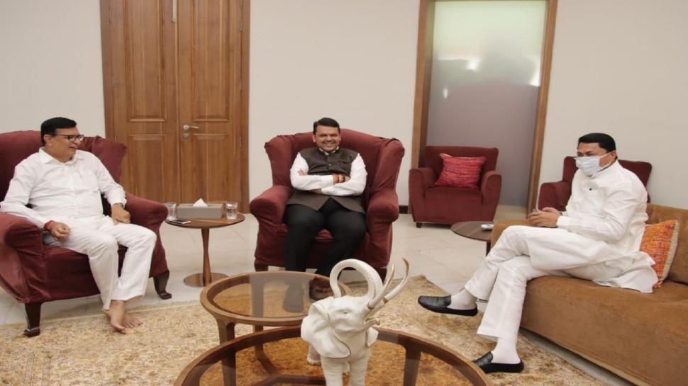 काँग्रेस नेत्यांनी घेतली देवेंद्र फडणवीस यांची भेट, फडणवीसांनी ठेवला 'हा' प्रस्ताव