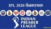 IPL 2020 चं संपूर्ण वेळापत्रक, 29 मार्चला पहिला सामना