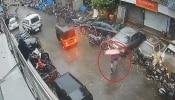 कशी थोडक्यात बचावली ही महिला पाहा...२ सेकंदही जीव जाण्यास पुरेसे होते