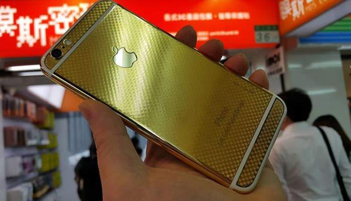 24 कॅरेट सोन्यानं सजला iPhone 6 आणि iPhone 6+