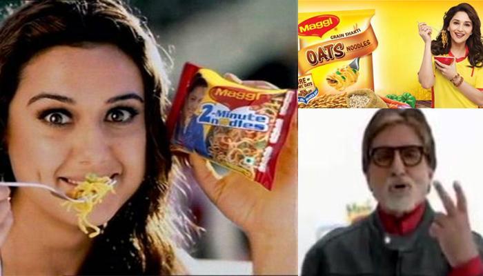 मॅगी जाहिरात : माधुरी, प्रिती झिंटा, अमिताभ बच्चन यांच्यावर गुन्हा