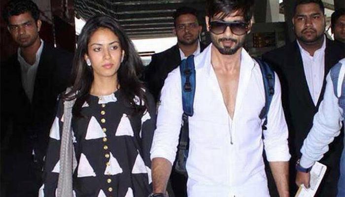 शाहिद आणि मीरा दिल्लीहून मुंबईसाठी रवाना
