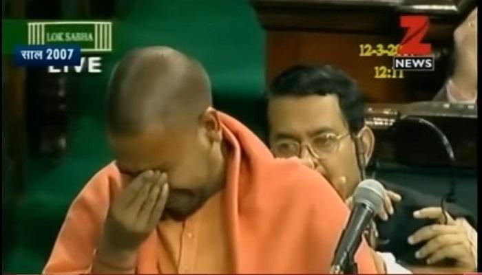 जेव्हा संसदेत ढसाढसा रडले योगी आदित्यनाथ