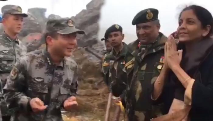 VIDEO: निर्मला सीतारमन यांनी चीनी सैनिकांना सांगितला नमस्तेचा अर्थ