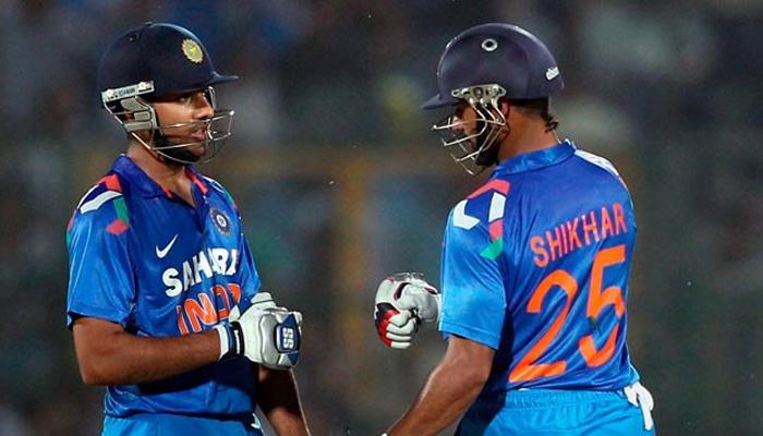रोहित-धवनची वादळी खेळी, भारताचा धावांचा डोंगर