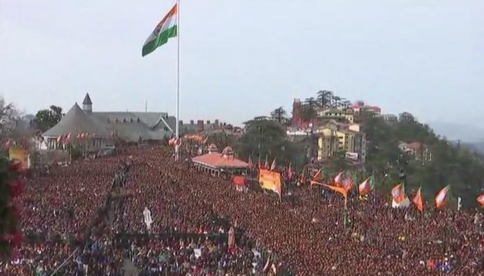 हिमाचलमध्ये पंतप्रधान मोदींच्या स्वागतासाठी लाखोंची गर्दी