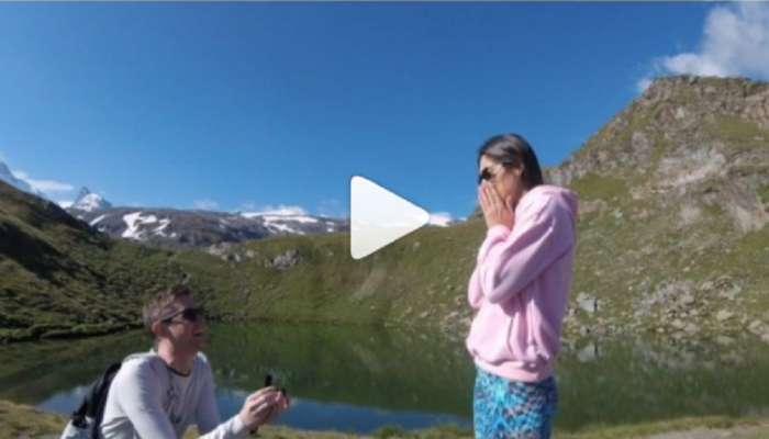 VIDEO : बॉलिवूड अभिनेत्रीला बॉयफ्रेंडने स्विझरलँडमध्ये केलं असं प्रपोझ