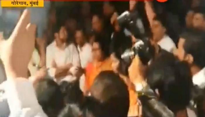 मंबई: गोरेगावमध्ये शिवसेना-भाजप कार्यकर्ते आमनेसामने