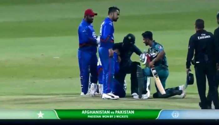 अफगाणिस्तानचा क्रिकेटपटू मैदानातच रडला