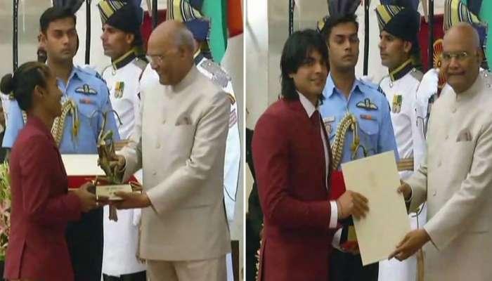 विराट कोहली, मीराबाई चानूसह 'या' खेळाडूंचाही राष्ट्रपतींच्या हस्ते गौरव