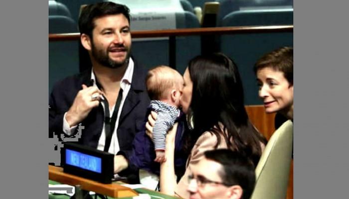 Video : पंतप्रधान तीन महिन्यांच्या बाळाला घेऊन महासभेत