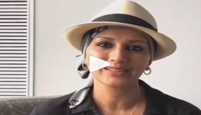 VIDEO : कॅन्सरशी झुंजणारी सोनाली देतेय 'हा' प्रेरणादायी संदेश