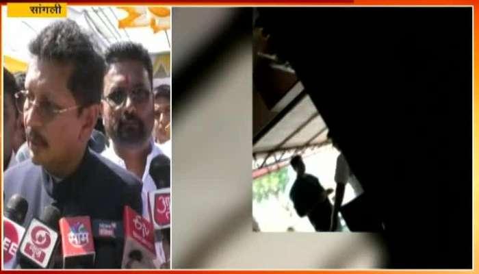Sangli Dipak Kesarkar On Police Take Bribe From Hotel Owner All Footage Capture In CCTV Camera