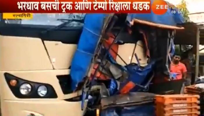 मुंबई-गोवा महामार्गावर लांजा बाजारपेठेत भीषण अपघात; एक ठार