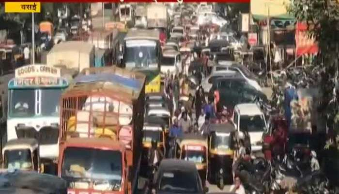 Vasai Road Traffic Jam Due To Cleansiness Awerness