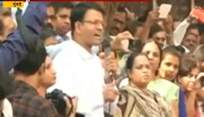 Mumbai Wadala Best Bus Union Leader Sashank Rao Addressing Best Bus Employe Family In Protest