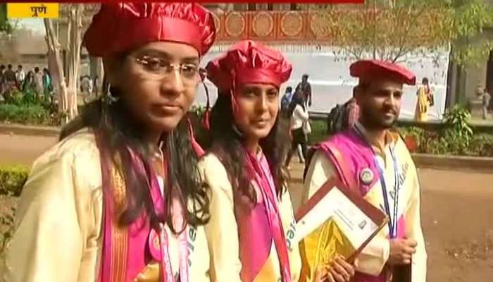 Pune In Graduation Ceremoy Students Wear Tradditional Cloths