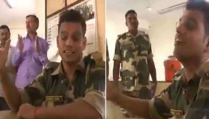 VIDEO : BSF जवानाचं हे गाणं ऐकताच तुमचं ऊर भरून येईल