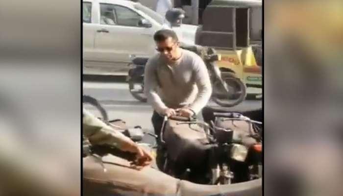 व्हिडिओ : थांबा... कराचीमध्ये बाईक पार्क करतोय तो सलमान खान नाही!