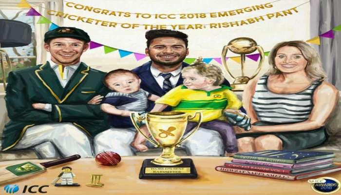 उदयोन्मुख क्रिकेटपटूचा पुरस्कार, 'बेबी सीटर' ऋषभ पंतवर आयसीसीचा निशाणा