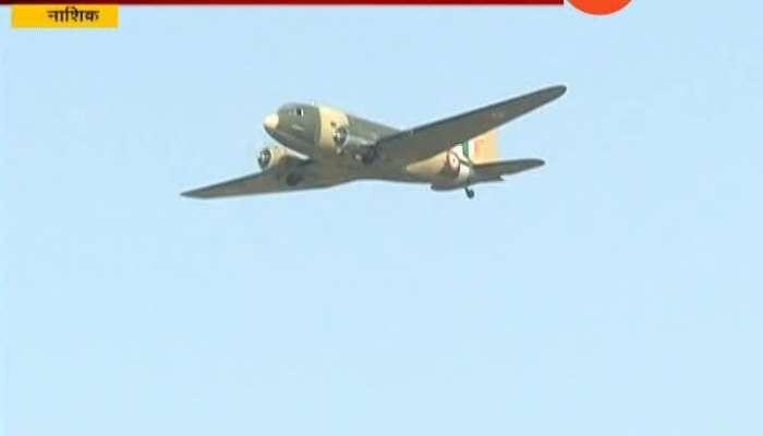 Vinatage Military Aircraft Dakota Reaches At Nashik